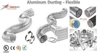 ท่อเฟ็ก,ท่ออลูมิเนียมฟอยล์,ท่อเฟล็กซ์,flexible duct,ท่อดัก,ท่อดักท์.Dconnect,4