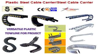 รางกระดูกงู,รางกระดูกงูพลาสติก,cable chain,cable drag chain,กระดูกงูร้อยสายไฟ,dconneck.1
