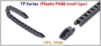 รางกระดูกงู,รางกระดูกงูพลาสติก,cable chain,cable drag chain,กระดูกงูร้อยสายไฟ,PA62