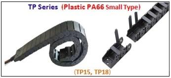 รางกระดูกงู,รางกระดูกงูพลาสติก,cable chain,cable drag chain,กระดูกงูร้อยสายไฟ,PA63