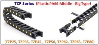 รางกระดูกงู,รางกระดูกงูพลาสติก,cable chain,cable drag chain,กระดูกงูร้อยสายไฟ,PA64